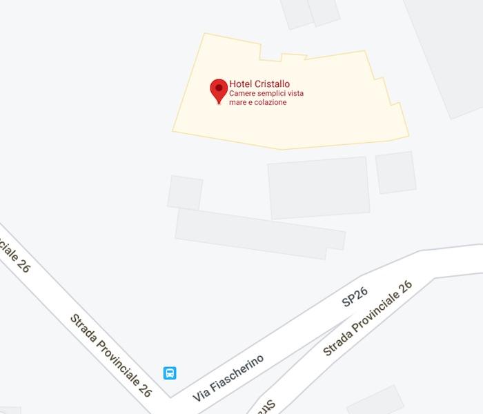 mappa hotel cristallo