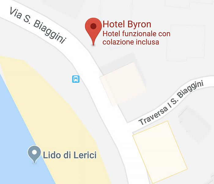 mappa hotel byron