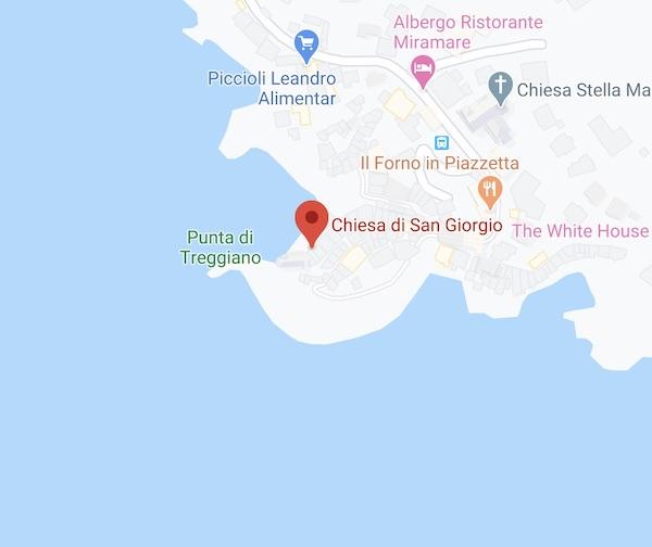 mappa chiesa San Giorgio lerici