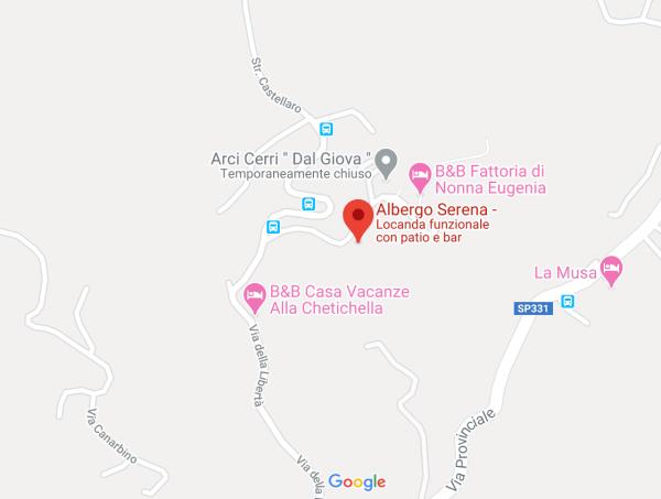 mappa hotel serena lerici