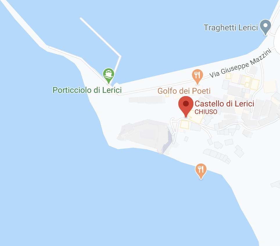 mappa castello di lerici
