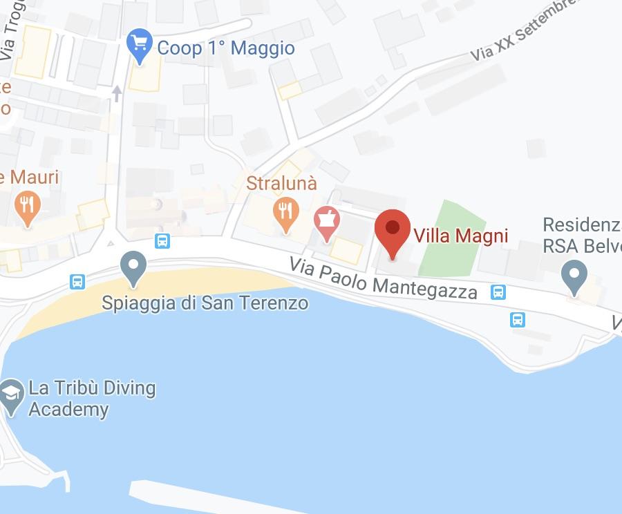 mappa villa magni lerici